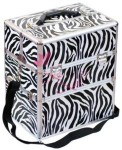 KUFER NS06 Zebra, róż, srebrny