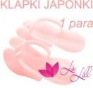 Klapki japonki do pedicure różowe - 1 para
