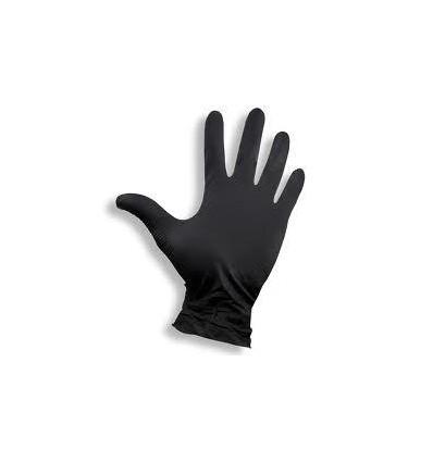 """Rękawice nitrylowe czarne """"M"""""""