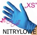 """RĘKAWICZKI NITRYLOWE - BEZPUDROWE """"XS"""""""