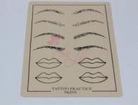 Skórka do ćwiczeń usta, brwi makijaż permanentny