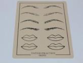 Skórka do ćwiczeń usta, brwi - makijaż permanentny