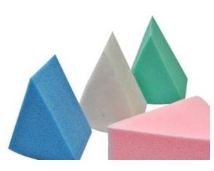 Gąbki do podkładu 8szt. kolorowe trójkąty