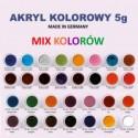 AKRYL KOLOROWY 5g - MIX KOLORÓW