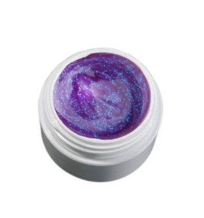 Color Gel  jasny fiolet/brokatowy żel , 5g