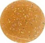 Akrylowy puder 5g ciemny złoty z brokatem