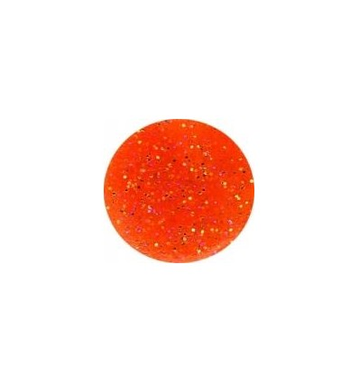 Akrylowy puder 5g pomarańczowy z brokatem