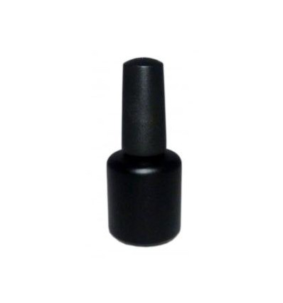 Butelka z pędzelkiem lakierówka czarna 15ml HDPE