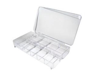 Pudełko na tipsy z przegródkami (na 500 tipsów)