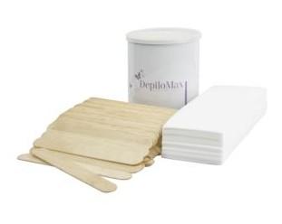Zestaw wosk w puszcze + szpatułki + paski