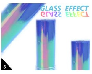 Folia Efekt szklanych paznokci fioletowa 03