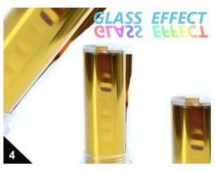 Folia Efekt szklanych paznokci złota 04