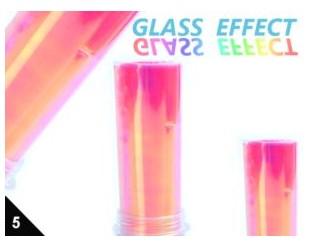 Folia Efekt szklanych paznokci amarantowa 05
