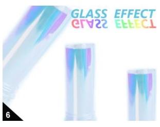 Folia Efekt szklanych paznokci opa. niebieski 06