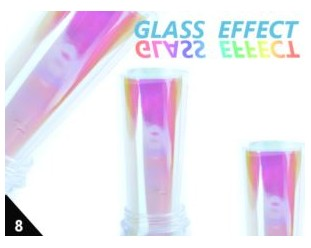 Folia Efekt szklanych paznokci opal. różowa 08