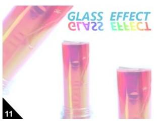Folia Efekt szklanych paznokci jasnoróżowa 11