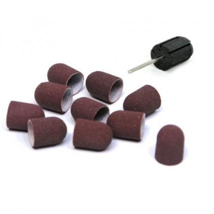 Nakładki kapturki 16mm 25szt. + nośnik gumowy
