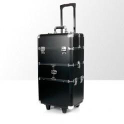 Kufer kosmetyczny duży 2cz z kołami dk2 czarny