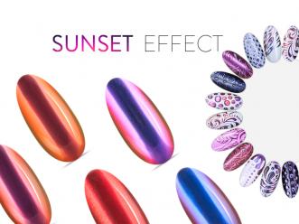 Neonail Puder Sunset Effect Pięc kolorów (A)