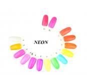 Żel kolorowy neon 5ml paleta 20 kolorów