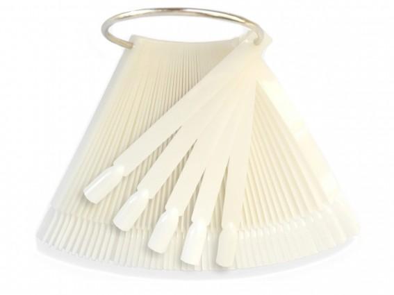 Wzornik - ekspozytor do lakierów wachlarz mleczny 50 sztuk