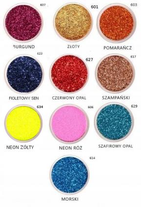 Brokat 3g mix kolorów - Glitterpuder.